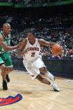 Boston Celtics v Atlanta Hawks: Joe Johnson and Ray Allen Photographic Print by Scott Cunningham