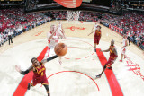 Cleveland Cavaliers v Houston Rockets: Mo Williams and Chase Budinger Photographic Print by Bill Baptist