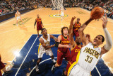 Cleveland Cavaliers v Indiana Pacers: Danny Granger anderson Varejao and Joey Graham Photographic Print by Ron Hoskins