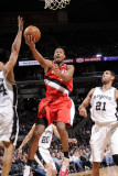Portland Trail Blazers v San Antonio Spurs: Marcus Camby, Tim Duncan and Richard Jefferson Photographic Print by D. Clarke Evans