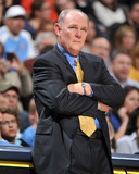 New Jersey Nets v Denver Nuggets: George Karl Photographic Print by Garrett Ellwood