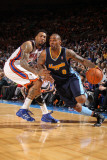 Denver Nuggets v New York Knicks: Gary Forbes and Wilson Chandler Photographic Print by Nathaniel S. Butler