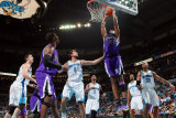 Sacramento Kings v New Orleans Hornets: Carl Landry and Marco Belinelli Photographic Print by Chris Graythen