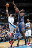 Charlotte Bobcats v New Orleans Hornets: Trevor Ariza and Nazr Mohammed Photographic Print by Layne Murdoch