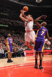 Los Angeles Lakers v Chicago Bulls: Joakim Noah and Lamar Odom Photographic Print by Andrew Bernstein