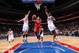 Los Angeles Clippers v Philadelphia 76ers: Eric Gordon, Elton Brand and Spencer Hawes Photographic Print by Jesse D. Garrabrant