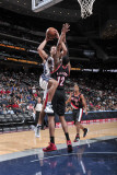 Portland Trail Blazers v New Jersey Nets: Kris Humphries and LaMarcus Aldridge Photographic Print by David Dow