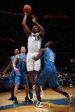 Orlando Magic v Washington Wizards: Kevin Seraphin and Brandon Bass Photographic Print by Ned Dishman
