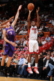 Phoenix Suns v Miami Heat: Mario Chalmers and Goran Dragic Photographic Print by Andrew Bernstein