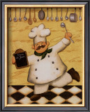 Le Chef et le Menu Poster by Daphne Brissonnet