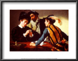 The Cardsharps Art by Caravaggio