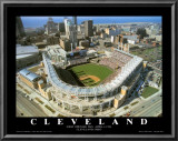 Cleveland - First Indians Game at Jacobs Field Prints by Mike Smith