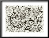 No. 14 (Gray) Print by Jackson Pollock