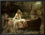 Lady of Shalott Prints by John William Waterhouse