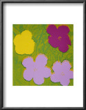 Flowers, c.1970 (Yellow, Lilac, Purple) Print by Andy Warhol