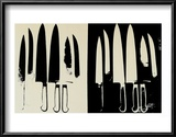 Knives, c.1982 (Cream and Black) Poster by Andy Warhol