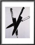 Knives, c.1981-82 (three black on cream) Posters by Andy Warhol
