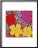 Flowers, c.1970 (Red, Pink, Yellow) Poster by Andy Warhol