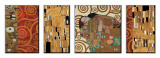 Deco Collage Druck aufgezogen auf Holzplatte von Gustav Klimt