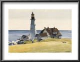 Lighthouse and Buildings, Portland Head, Cape Elizabeth, Maine, c.1927 Prints by Edward Hopper