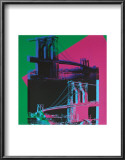 Brooklyn Bridge, c.1983 (Green, Blue, Pink) Posters by Andy Warhol