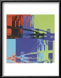 Brooklyn Bridge, c.1983 (Orange, Blue, Lime) Prints by Andy Warhol