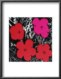 Flowers, c.1964 (Red and Pink) Art by Andy Warhol