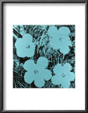 Flowers, c.1967 (Blue) Posters by Andy Warhol