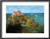 Fisherman's Cottage on the Cliffs at Var Prints by Claude Monet