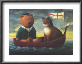 Teddy in a Boat Prints by Mary Mackey