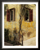 Two Windows, Red Shutters Print by Zeny Cieslikowski