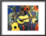 Three Folk Musicians, 1967 Print by Romare Bearden