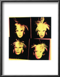 Self-Portrait, c.1986 (Four Yellow Andy's) Prints by Andy Warhol