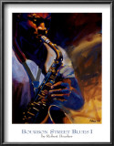 Bourbon Street Blues I Print by Robert Brasher