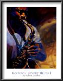 Bourbon Street Blues I Print by Robert Brasher