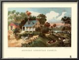 American Homestead Summer Posters by Currier &amp; Ives 