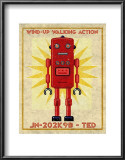 Ted Box Art Robot Posters by John Golden