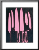 Knives, c. 1981-82 (pink and black) Poster by Andy Warhol