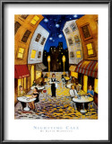 Nighttime Cafe Prints by David Marrocco