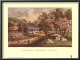 American Homestead Spring Prints by Currier &amp; Ives 