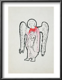 Angel, c.1965-1985 (red with halo) Poster by Andy Warhol