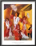 Los Bailarines de Flamenco Poster by Sharon Carson