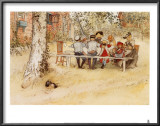 Breakfast under the Big Birch Prints by Carl Larsson