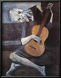 老いたギター弾き(The Old Guitarist, c.1903) ポスター : パブロ・ピカソ