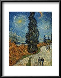 Country Road in Provence by Night, c.1890 Poster by Vincent van Gogh