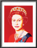 Reigning Queens: Queen Elizabeth II of the United Kingdom, c.1985 (Light Outline) Poster by Andy Warhol