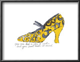 Yellow Pattern Shoe, c.1955 Print by Andy Warhol