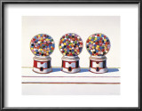 Three Machines, 1963 Posters by Wayne Thiebaud