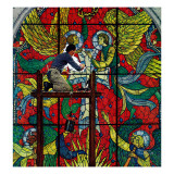 """Repairing Stained Glass"", April 16,1960 Giclee Print by Norman Rockwell"