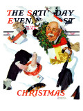 """White Christmas"" Saturday Evening Post Cover, December 25,1937 Giclee Print by Norman Rockwell"